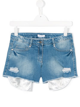 Elsy TEEN distressed denim shorts - Blue