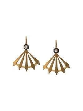 Cathy Waterman Big Top Earrings - Gold