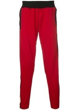 Daniel Patrick snap side track trousers - Red