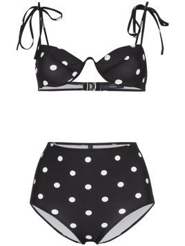 Araks Myriam Mallory polka dot underwired high-waisted bikini set - Black