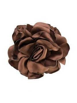 Caffe' D'orzo rose brooch - Brown