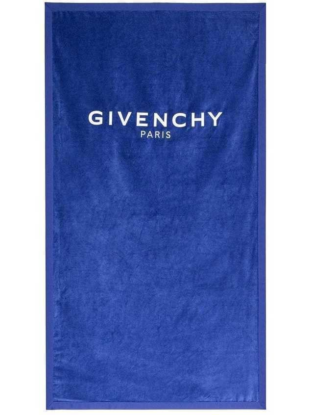 Givenchy Logo Embroidered Towel - Blue