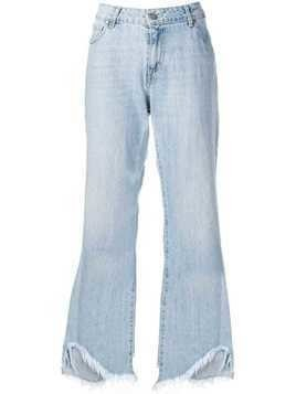 Federica Tosi frayed wide-leg jeans - Blue