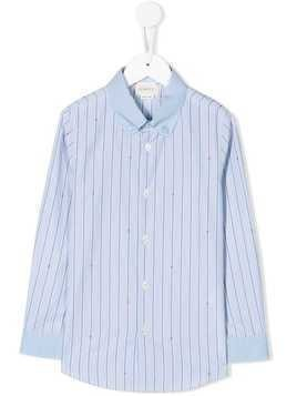 Gucci Kids striped button down shirt - Blue