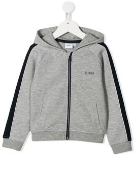 Boss Kids long sleeve zipped hoodie - Grey