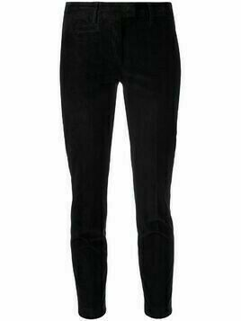Dondup slim-fit moleskin trousers - Black