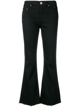 Don't Cry cropped flared jeans - Black