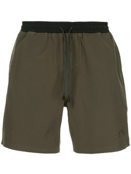 The Upside drawstring waist track shorts - Green