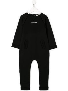 Andorine frayed 'artist in the making' jumpsuit - Black