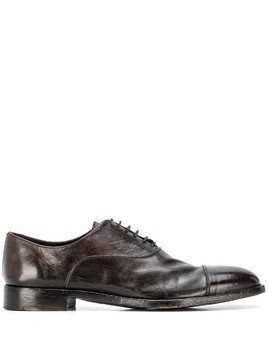 Alberto Fasciani lace up derby shoes - Brown