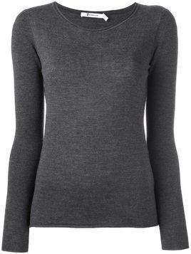 T By Alexander Wang longsleeved knit top - Grey