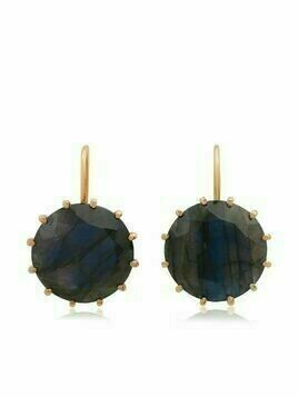 Andrea Fohrman 18kt rose gold labradorite earrings - Pink