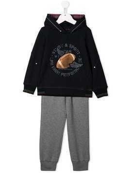 Lapin House Rugby print tracksuit set - Blue