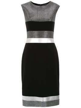 Gloria Coelho panelled dress - Black