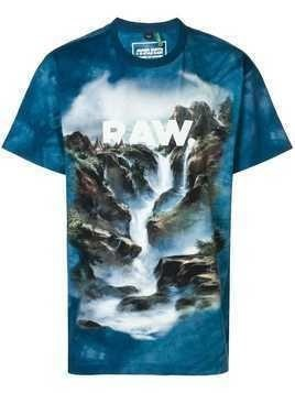 G-Star Raw Research Cyber water printed T-shirt - Blue