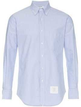 Thom Browne logo patch fitted shirt - Blue