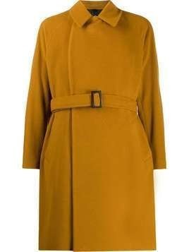 Hevo belted double breasted coat - Brown