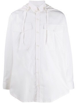 David Catalan hooded shirt - White