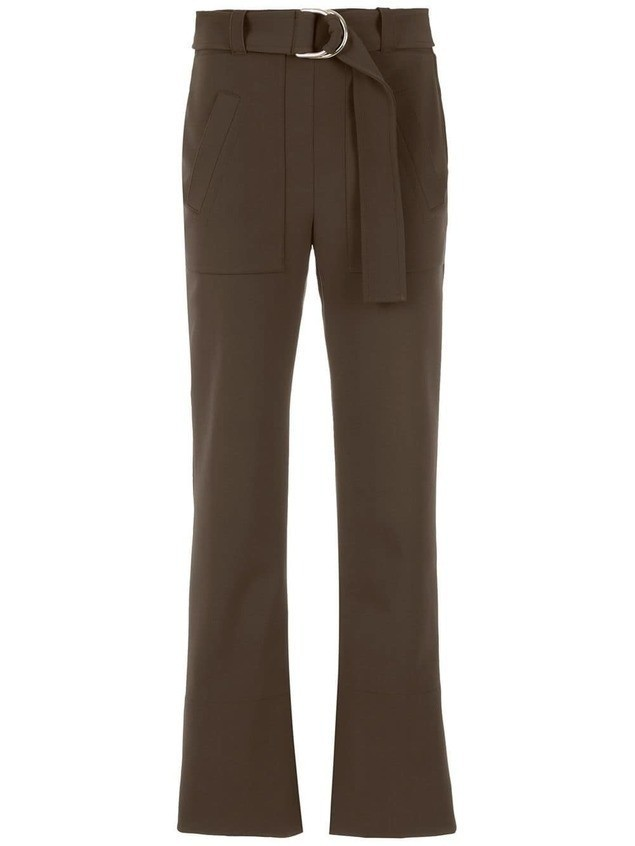 Gloria Coelho belted pants - Brown