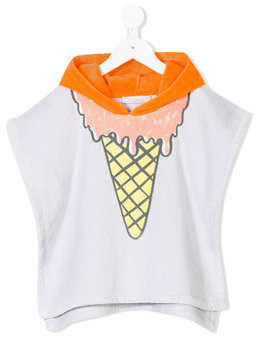 Stella Mccartney Kids Chuckle ice cream poncho - Nude & Neutrals