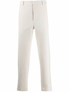 Maison Flaneur tailored straight leg trousers - White