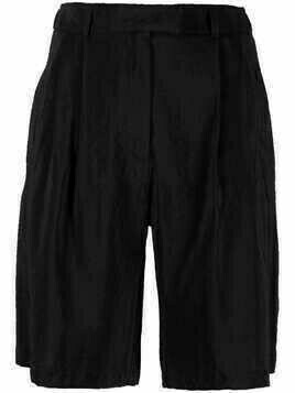 Alysi high-waisted tailored shorts - Black