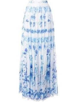Ingie Paris high-waist floral pleated skirt - Blue