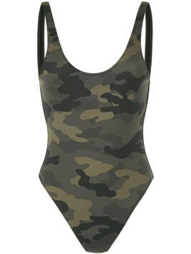 The Upside camouflage scoop swimsuit - Multicolour