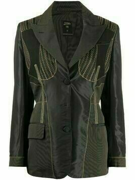 Jean Paul Gaultier Pre-Owned 1980s zigzag stitching jacket - Black