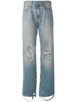 R13 - straight jeans - Damen - Cotton/Spandex/Elastane - 27 - Blue