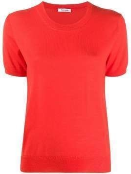 P.A.R.O.S.H. round neck knitted T-shirt - Red