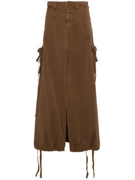 Palm Angels High waisted cargo skirt - Brown