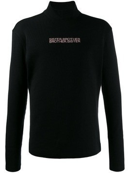 Fengchen Wang Sister Brother jumper - Black