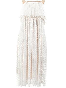 Litkovskaya layered embroidered dress - White