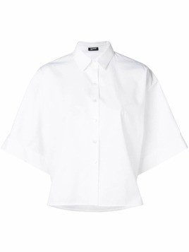 Jil Sander Navy boxy short sleeved shirt - White