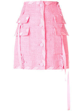 MSGM cargo mini skirt - Pink & Purple