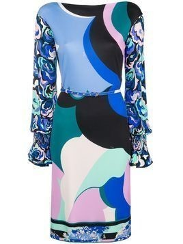 Emilio Pucci printed belted dress - Blue