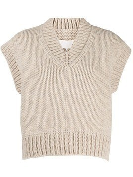 Maison Margiela cropped knitted vest - Neutrals