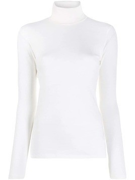 Majestic Filatures knitted turtle neck top - White