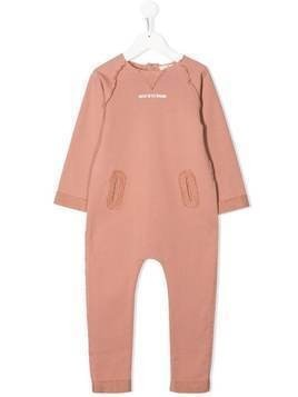 Andorine frayed 'artist in the making' jumpsuit - PINK