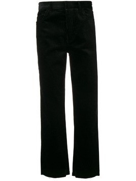 Haider Ackermann raw edges corduroy trousers - Black