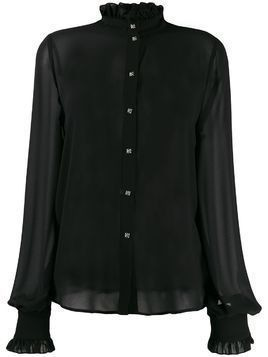 John Richmond ruffle trimming shirt - Black
