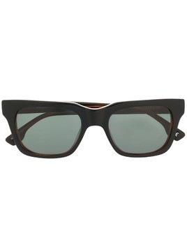 Le Specs Fellini rectangular frame sunglasses - Black