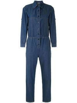 Amapô Worker denim jumpsuit - Blue