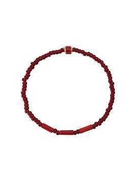 Luis Morais hexagon bead bracelet - Red
