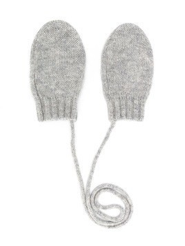 Bonpoint knitted mittens - Grey