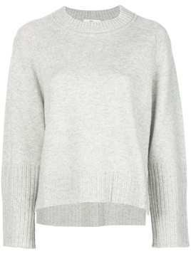 Allude crew neck relaxed-fit jumper - Grey