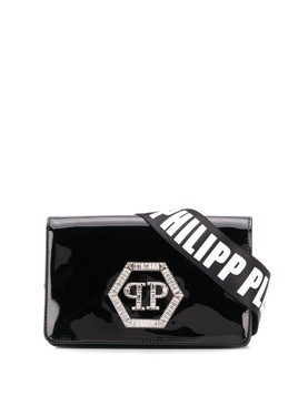Philipp Plein logo shoulder bag - Black