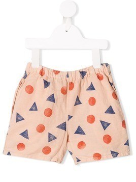 Bobo Choses geometric shapes shorts - Pink