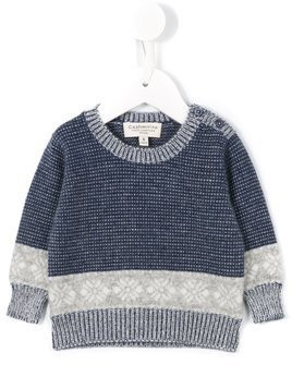 Cashmirino Fairisle knit jumper - Blue